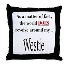 Westie World Throw Pillow
