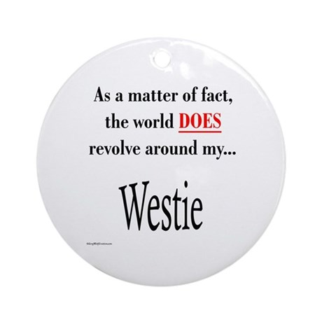 Westie World Ornament (Round)