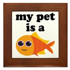 My Pet Goldfish Framed Tile