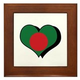 I Love Bangladesh Framed Tile