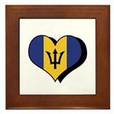 I Love Barbados Framed Tile