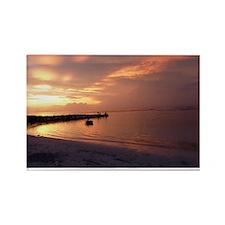 Jamaica Sunset Rectangle Magnet