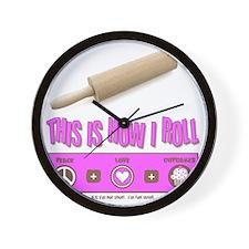 thisishowiroll_3 copy Wall Clock