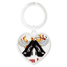 hell on heels Heart Keychain