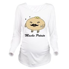 Tough Guy Macho Pota Long Sleeve Maternity T-Shirt