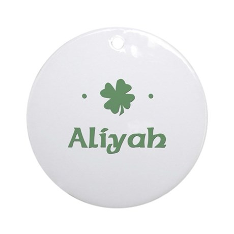 &amp;quot;Shamrock - Aliyah&amp;quot; Ornament (Round)