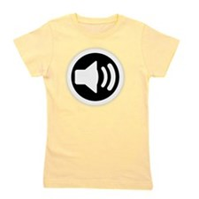 Audio Speaker White Girl's Tee