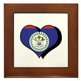 I Love Belize Framed Tile