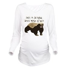 badger Long Sleeve Maternity T-Shirt