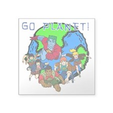 "GOPLANETTMw Square Sticker 3"" x 3"""