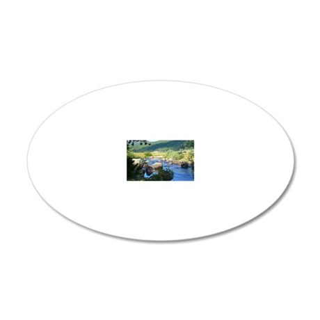 Hope Valley Carson River 20x12 Oval Wall Decal