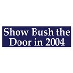 Show Bush the Door in 2004 (car sticker)