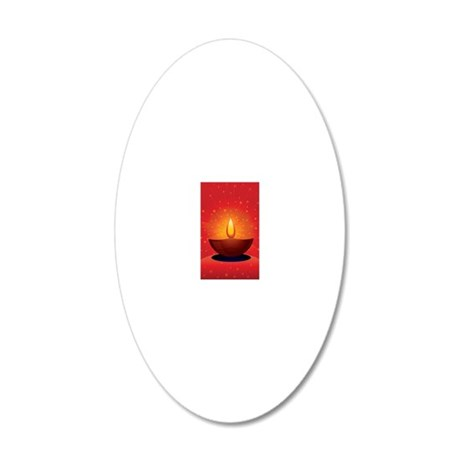 Diwali Festival of Lights 20x12 Oval Wall Decal