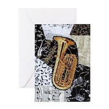 tuba-ornament Greeting Card