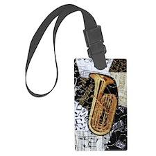 tuba-ornament Luggage Tag