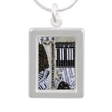 bass-clarinet-ornament Silver Portrait Necklace