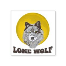 "Lone Wolf Square Sticker 3"" x 3"""