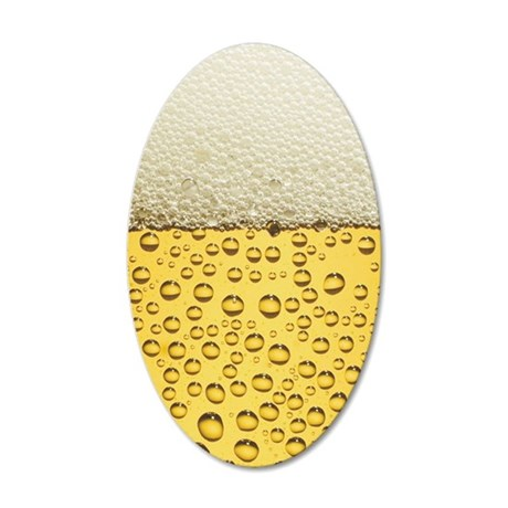 Beer Bubbles 35x21 Oval Wall Decal