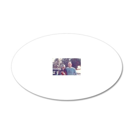 Jolie and Benj 20x12 Oval Wall Decal