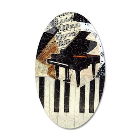 Piano9x7 35x21 Oval Wall Decal