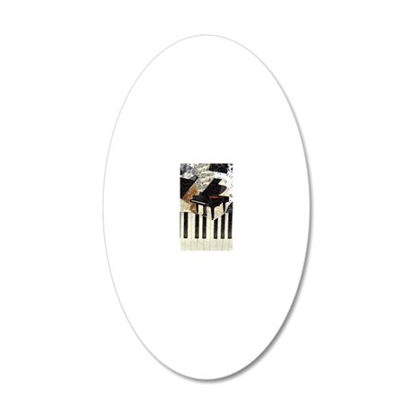 Piano9x7 20x12 Oval Wall Decal