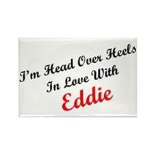 In Love with Eddie Rectangle Magnet