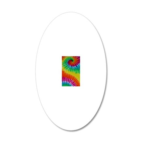 TyeDye2 20x12 Oval Wall Decal