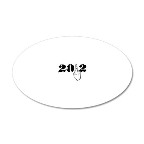 2012middlefinger 20x12 Oval Wall Decal