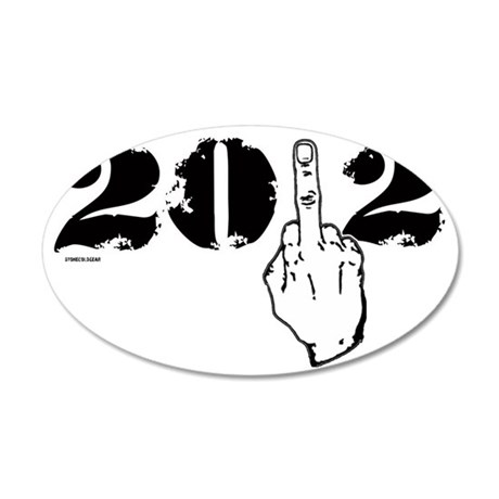 2012middlefinger 35x21 Oval Wall Decal