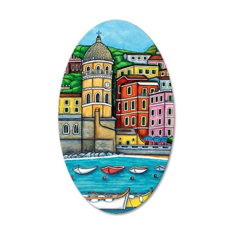 Vernazza-HSPropicAR 35x21 Oval Wall Decal
