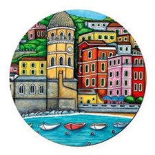 Vernazza-HSPropicAR Round Car Magnet