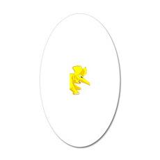 elephant_tug_keych_YellF 20x12 Oval Wall Decal