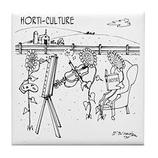3931_horticulture_cartoon Tile Coaster