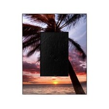 maui hawaii coconut palm tree sunset Picture Frame