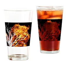 burning tree2 Drinking Glass