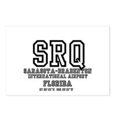 AIRPORT CODES - SRQ - SAR Postcards (Package of 8)