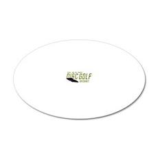 Treckie - Disc Golf - Birdsh 20x12 Oval Wall Decal