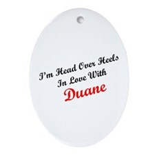 In Love with Duane Oval Ornament