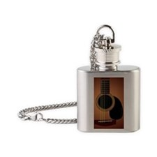 acousticguitar-sunburst111_iPhone3c Flask Necklace