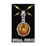 BAGeL Radio Rectangle Sticker