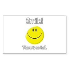 smile! there is no hell. Rectangle Decal