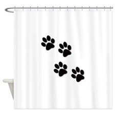 paws.gif Shower Curtain