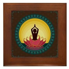 Sunrise Yoga Art Framed Tile