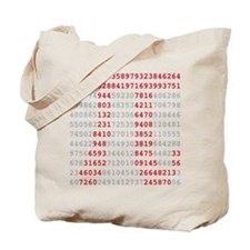 pi_numbers1 Tote Bag