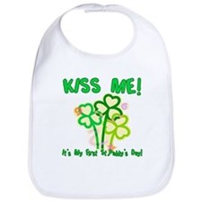 Kiss Me! Baby's First St. Pat Bib