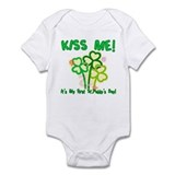 Kiss Me! Baby's First St. Pat Infant Bodysuit
