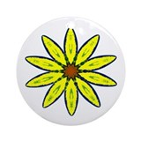 """Daisy Flower"" Ornament (Round)"