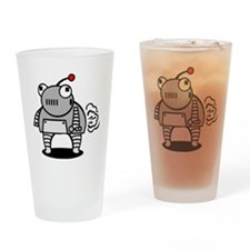 I Pooped Today! Funny Robot Drinking Glass