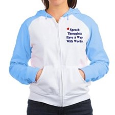 Speech Therapists Women's Raglan Hoodie