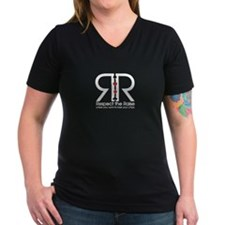 """Respect the Raise"" Women's V-Neck Black T-Shirt"